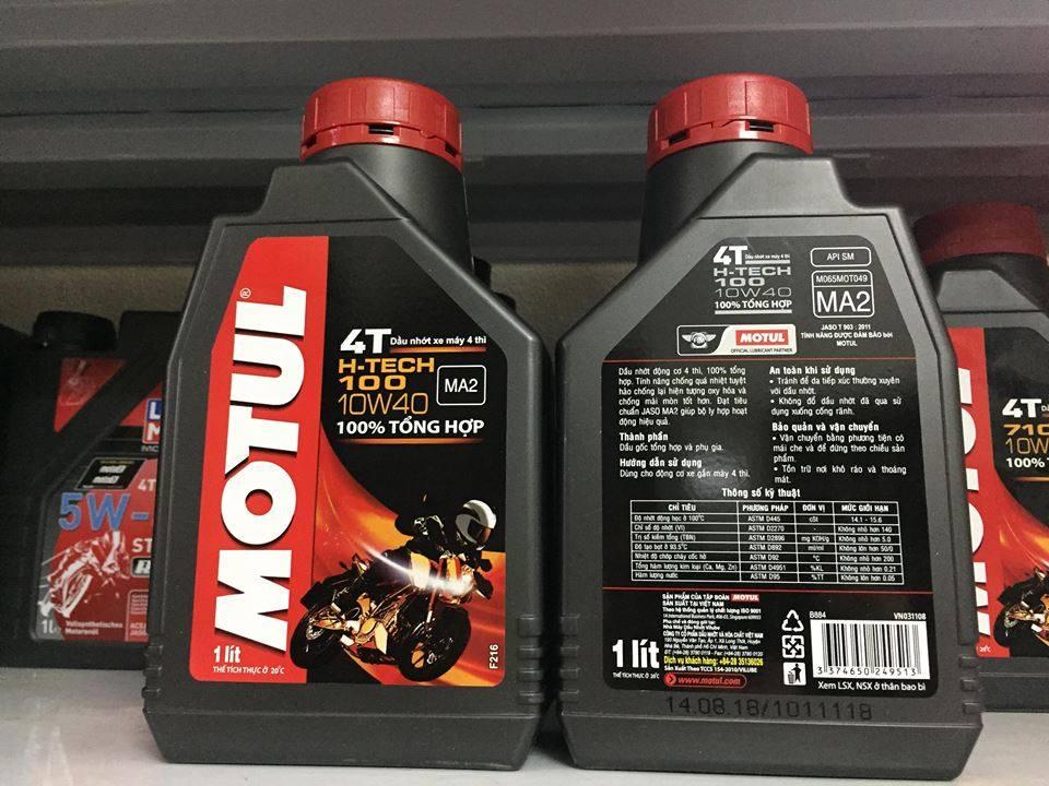 Thông số của dầu motul H-tech 10w40