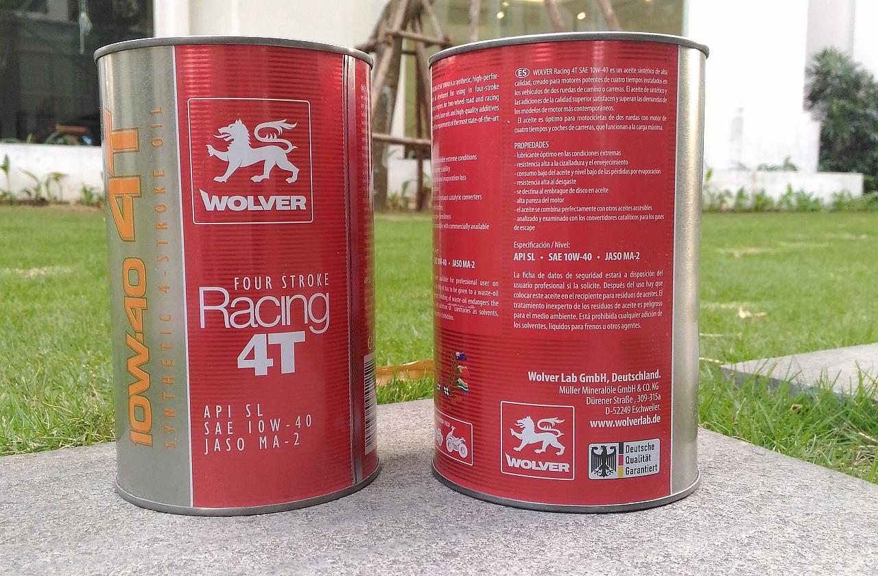 Dầu nhớt Wolver Racing 4T tổng hợp nhập khẩu từ Đức